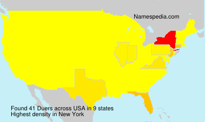 Surname Duers in USA
