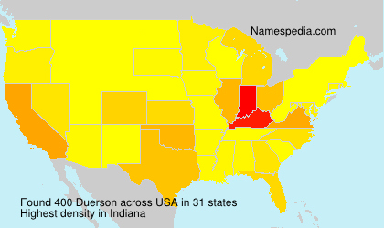 Surname Duerson in USA