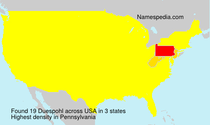 Surname Duespohl in USA