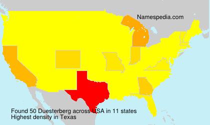 Surname Duesterberg in USA