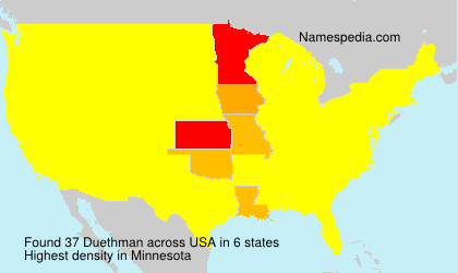 Surname Duethman in USA