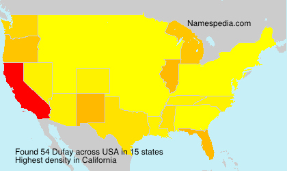 Surname Dufay in USA