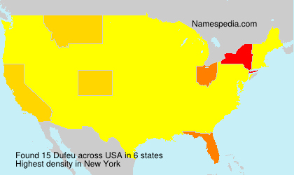 Surname Dufeu in USA