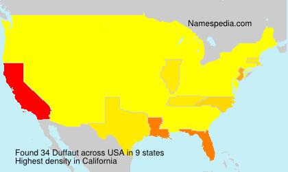 Surname Duffaut in USA