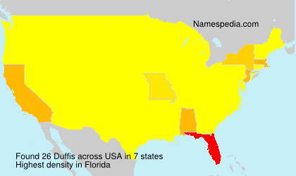 Surname Duffis in USA