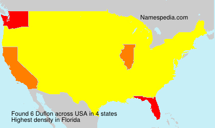 Surname Duflon in USA