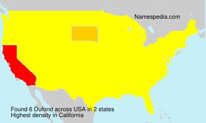 Familiennamen Dufond - USA