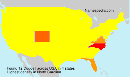 Surname Dugdell in USA