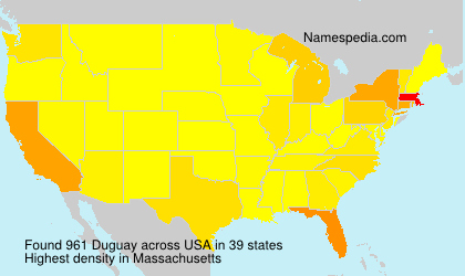 Surname Duguay in USA