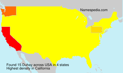 Surname Duhay in USA