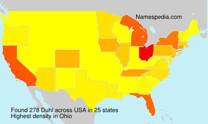 Surname Duhl in USA
