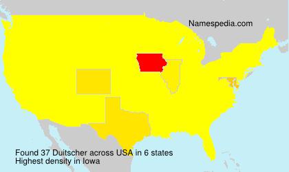 Familiennamen Duitscher - USA