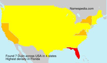 Surname Dujin in USA