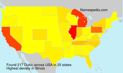 Surname Dukic in USA