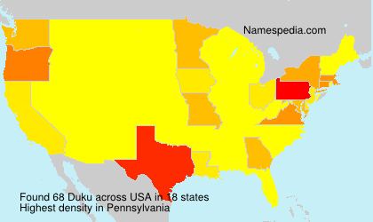 Familiennamen Duku - USA
