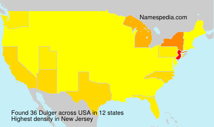 Surname Dulger in USA