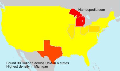 Surname Duliban in USA