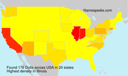Surname Dulla in USA