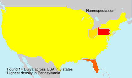 Surname Dulya in USA