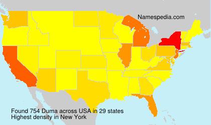 Surname Duma in USA