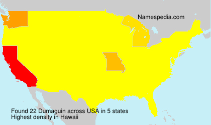 Surname Dumaguin in USA