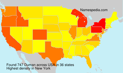 Surname Duman in USA