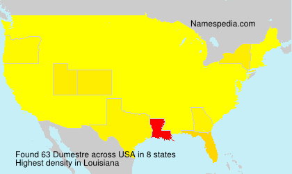 Surname Dumestre in USA