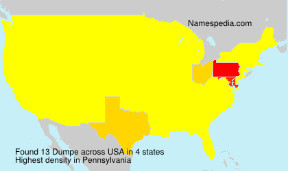 Surname Dumpe in USA