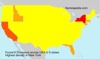 Familiennamen Dunayeva - USA