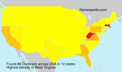 Surname Dunbrack in USA