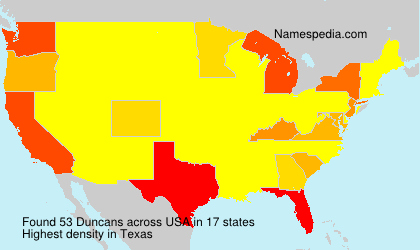 Surname Duncans in USA