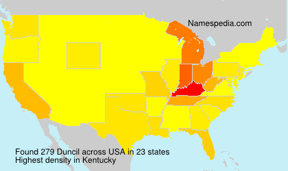 Familiennamen Duncil - USA