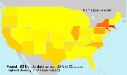 Surname Dunderdale in USA