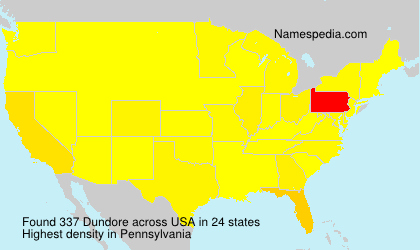 Surname Dundore in USA