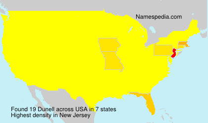 Surname Dunell in USA