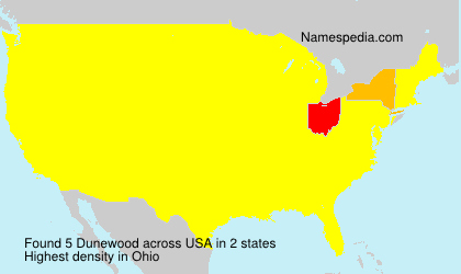 Surname Dunewood in USA