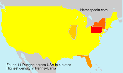 Surname Dunghe in USA