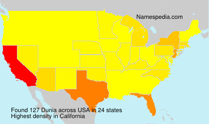 Surname Dunia in USA