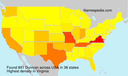 Surname Dunivan in USA