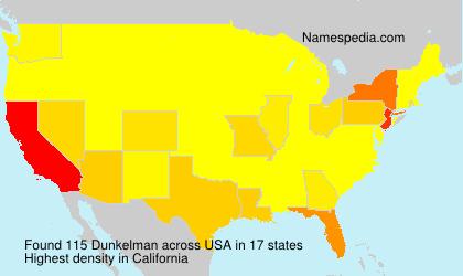 Surname Dunkelman in USA