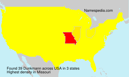 Surname Dunkmann in USA