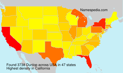 Surname Dunlop in USA