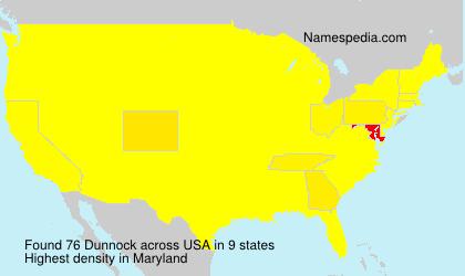 Surname Dunnock in USA
