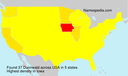 Surname Dunnwald in USA
