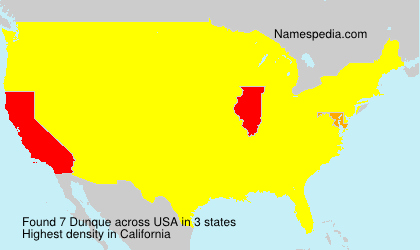 Surname Dunque in USA
