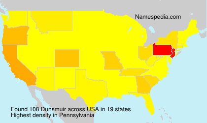 Surname Dunsmuir in USA