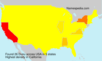 Surname Dunu in USA