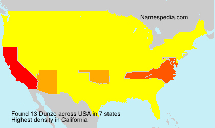 Surname Dunzo in USA