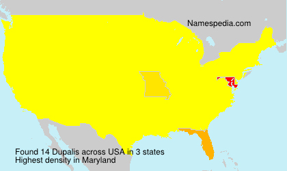 Surname Dupalis in USA