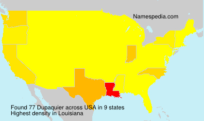 Surname Dupaquier in USA